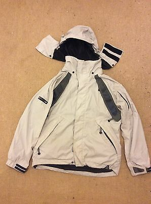 Men's White Bonfire Snowboard Jacket - Medium