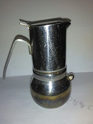 Vintage Stainless Steel  Prodotti Stella  Espresso Maker Made In Italy