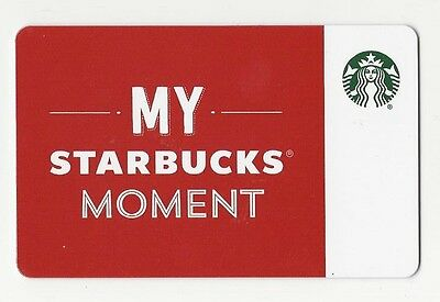 Starbucks Card Sweden My Moment Special Edition 1st Card 2016 NEW