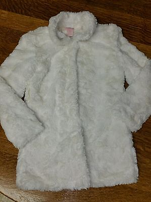 Candies Girls XS 7 8 White Faux Fur Coat *GUC*
