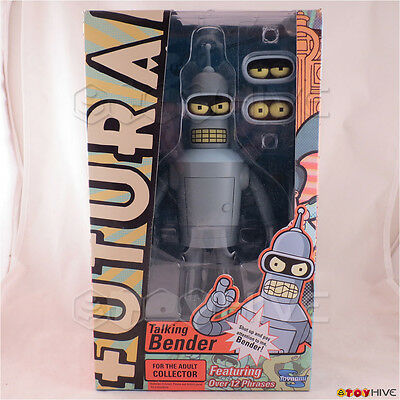 Futurama Talking Bender 9-inch tall action figure by Toynami over 12 phrases