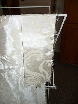"""Cream Lined Curtains 64"""" Wide 72"""" Drop Pencil Pleat"""