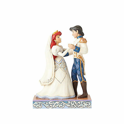 Jim Shore Disney Traditions Ariel & Prince Eric Wedded Bliss 4056749 NEW Wedding