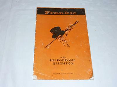Frankie At the Hippodrome Brighton Programme - Frankie Vaughan Vintage