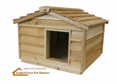 Insulated Cedar Outdoor Cat House Small Dog House Feral Cat Shelter Pet House