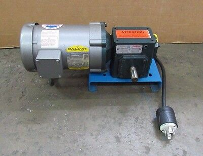 Baldor Vm3538 Gear Motor 1/2Hp .5 Hp 208-230/460V 3Ph 20:1 Ratio Grove Gearbox
