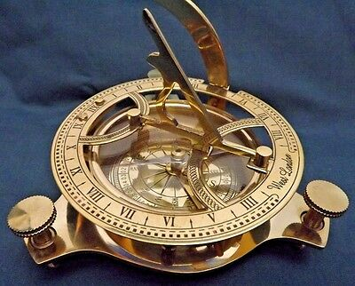 West London Brass Nautical Vintage Style Sundial Compass Maritime