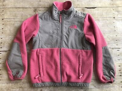 The North Face Girls Size Small 7/8 Pink Gray Jacket