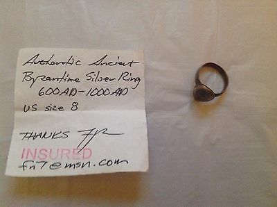 Authentic Ancient Ring Byzantine Silver Ring