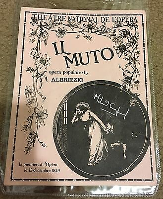 Phantom Of The Opera Prop Program Il Muto Musical Note Signed Michael Crawford