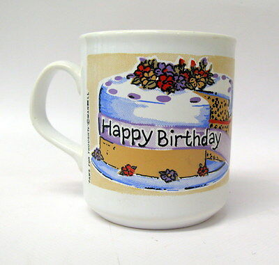 Paws For Thought Happy Birthday Mug. Teddy Bear & Birthday Cake. Cute.