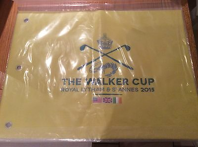 Rare Embroidered 2015 Walker Cup Golf Pin Flag Royal Lytham St Annes Sealed