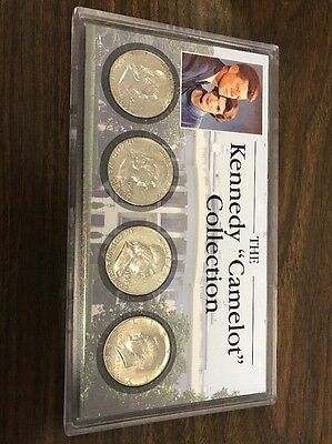 Kennedy Camelot Collection Silver Franklin Half Dollar And Kennedy
