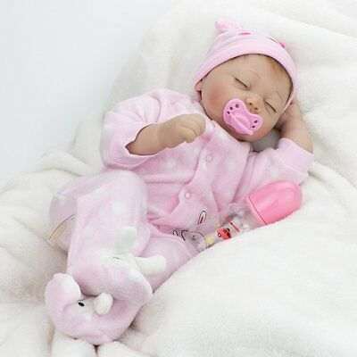 "22"" Lifelike Baby Newborn Doll Kid Gift Realistic Girl Reborn Dolls Floppy Head"