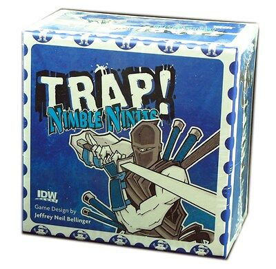 IDW Games, TRAP! Nimble Ninjas Card Game, New & Sealed