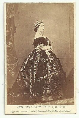 Victorian cdv photo Royalty Her Majesty Queen Victoria 1861  Madrid photographer