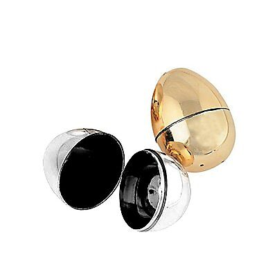 Plastic Metallic Gold and Silver Easter Egg Containers, 2 Pack  #372821