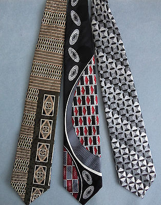 3 ITALIAN SILK TIES - High Quality, Canadian made lot pack three necktie