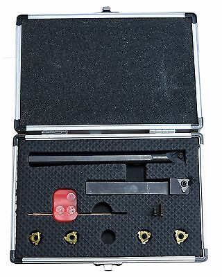 "Carbide Threading Tool Set For Metal Lathes: 1/2"" External & Internal Tools"