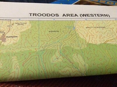 cyprus troodos area two sided western and eastern 2006 map