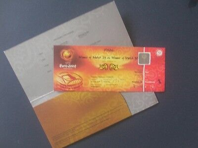 Euro 2004 Football Final Ticket Complete In Original Wallet