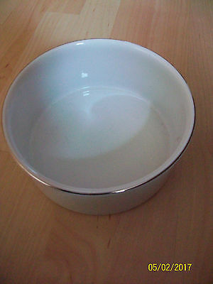 Thomas China Germany Platinum Medallion Thin Band Round Serving Bowl