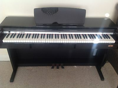 DP10 Digital Piano by Gear4music in High Gloss Black full size 88 keys DELIVERY