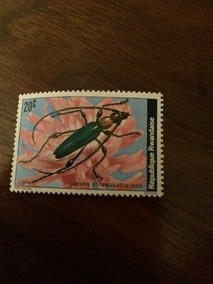 Stamp Rwanda - Insect - Unfranked