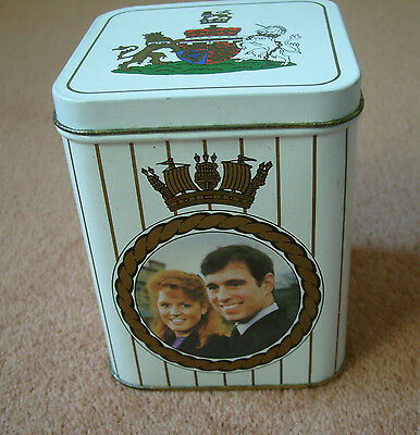 1986 Royal Wedding- Prince Andrew & Fergie commemorative tin