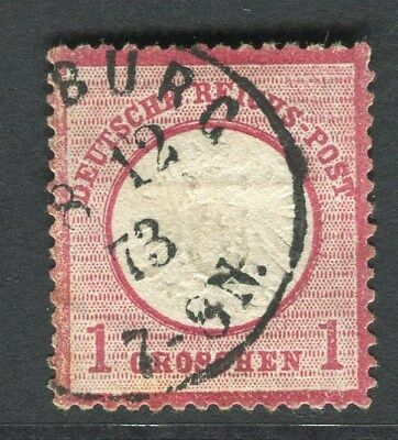 GERMANY;   1872 early classic Shield Type issue fine used 1g. value