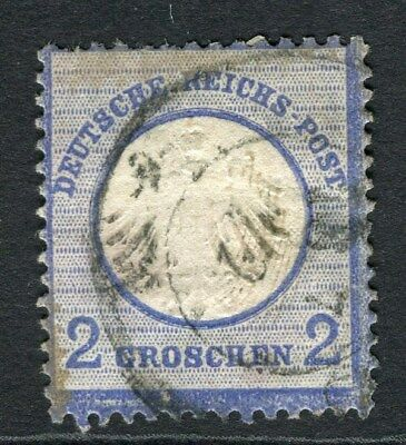 GERMANY;   1872 early classic Shield Type issue used 2g. value (hinge  thin)