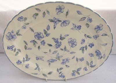 "Bhs Bristol Blue 12"" Oval Plates British Home Stores X 7"