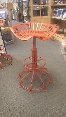 Red Vintage Tractor Seat Stool, Breakfast Bar Stool Industrial Stool Red