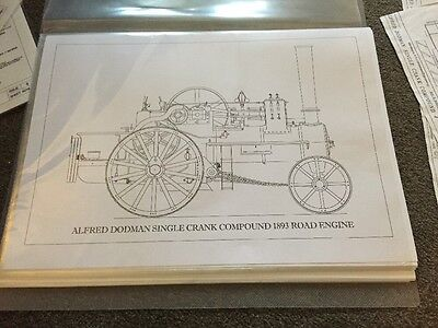 Drawings Alfred Dodman Single Crank Compound 1893 Road Engine Steam Engine