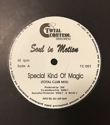 "SOUL IN MOTION - Special Kind Of Magic Vinyl 12"" UK White Label"
