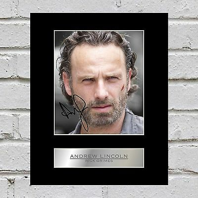 Andrew Lincoln, Rick Grimes Signed Mounted Photo Display The Walking Dead