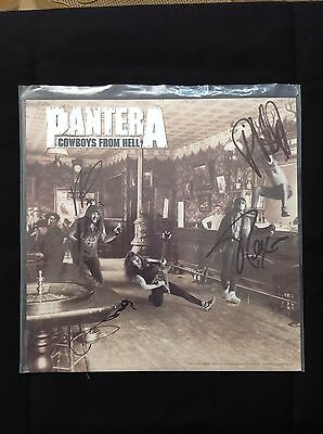 """Pantera Fully Signed """"Cowboys From Hell"""" Album Flat"""