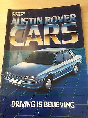 Austin-Rover Cars Sales Brochure May/june 1984  #a-R05