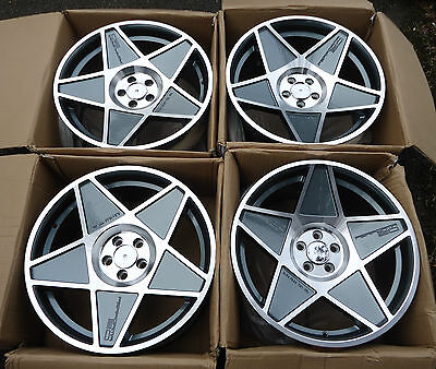 """New 18"""" Performa 20 Staggered Concave Alloy Wheels - 5x100 - Vw Audi"""