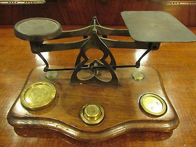 Set of Antique Brass Postal Scales c.1900