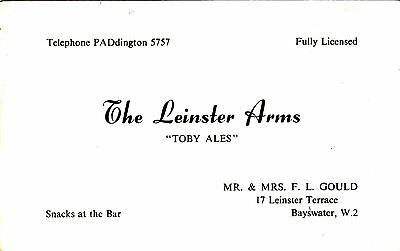 The Leinster Arms, Bayswater, London. Real Photo. Circa 1940