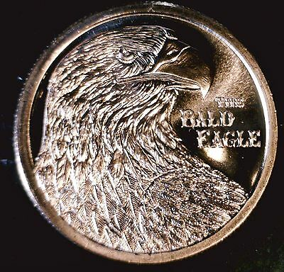 2016 BALD EAGLE .999 Pure COPPER $1 Dollar Size Round GEM BU Coin - NO RESERVE
