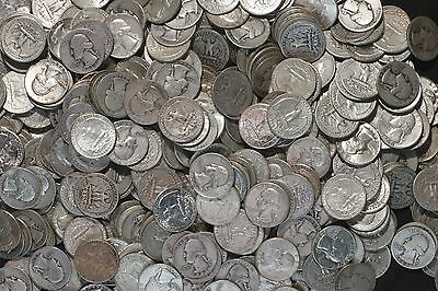 ONE ROLL OF WASHINGTON QUARTERS (1932-64)  90% Silver  (40 Coins)  LOT E50