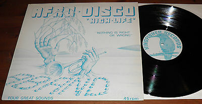 """Aband-Nothing Is Right EP-UK Kingfisher Vinyl 12""""-80s Afro Disco High Life-HEAR"""