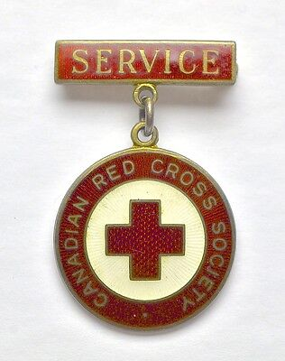 Vintage Sterling Silver Canadian Red Cross Service Pin