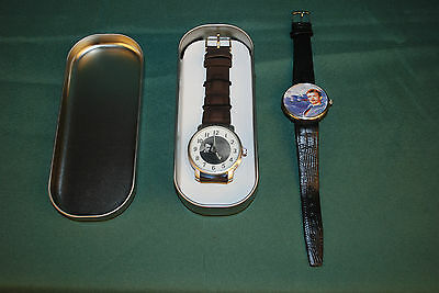 James Dean Watch 2pc Lot New 50th Anniversary Watch w/Tin and Another Included