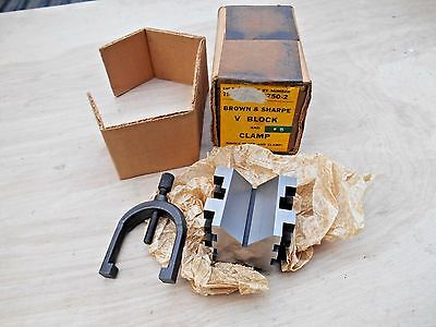 Brown & Sharpe 750-2 V-Block With Clamp