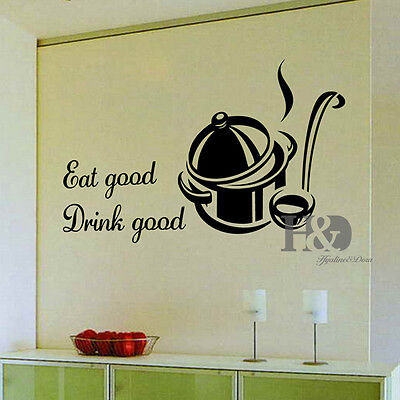 Words Removable Vinyl Decal Wall Sticker Mural Art DIY Kitchen Room Home Decor