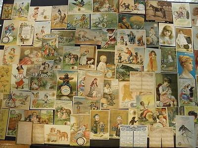 Lot Of 100+ Victorian Trade Cards Advertising Thread*coats*clarks*willimantic*
