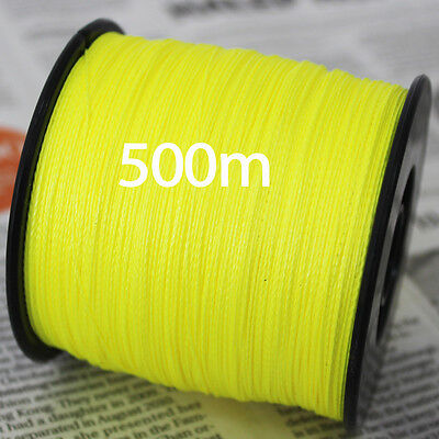 STRONG PE Multifilament Braided Fishing Line 500m Japanese Yellow Braid 100LB